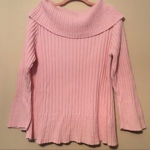 Cato 18/20W pink cowl sweater